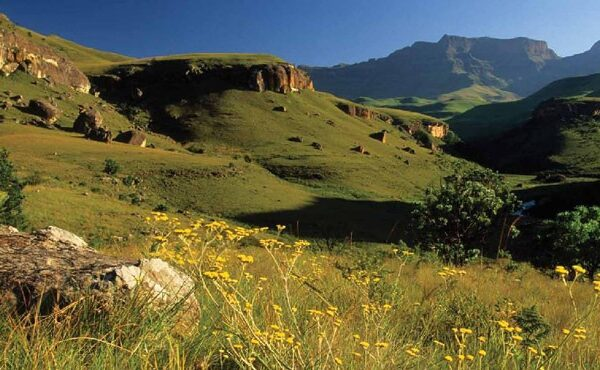 South Africa Adventure tours in Drakensburg mountains
